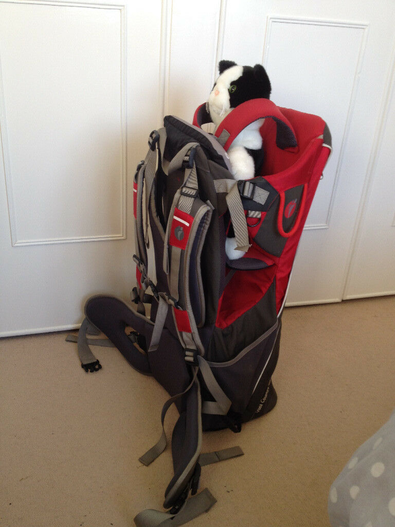 LittleLife Cross Country S2 baby/child back carrier, plus rain cover and comfort pack