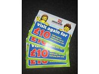 4 x Legoland tickets to get you in for £10 each