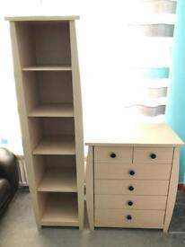 Matching book shelf and Drawers
