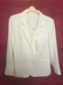 Plain cream jacket size 14