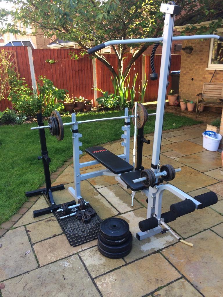 YORK Weight Bench +Squat Rack+Weights(CAST IRON)