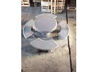 Concrete table + 4 benches