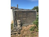 Heras fencing panels with feet