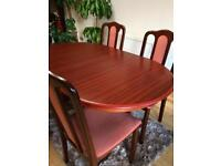 Table and 4chair+sideboard