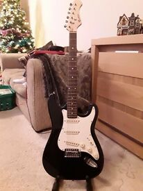 Rockburn Electric Guitar - one string missing. No leads