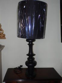 "Very large black lamp apprx 40"" UNUSED statement piece"