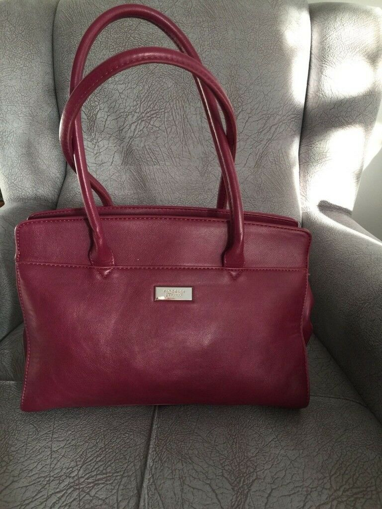 805c8df0aa46 Fiorelli burgundy leather handbag. Enfield ...