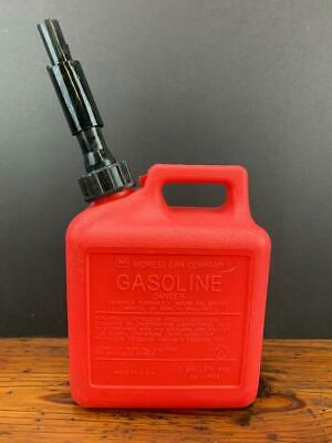 Vintage Midwest Can Co 1 Gal. 4 Oz. Vented Gas Fuel Can W Spout Usa