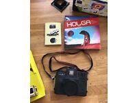 Lomography Holga Film Camera 120CFN Flash Starter pack - Black with Box and Holga book