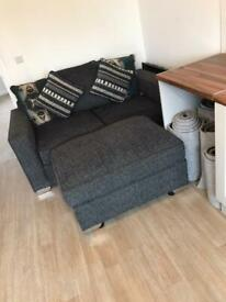 2 Seater Sofa And Pouffe