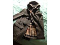 Burberry Brit 100% woollen length coat size uk 8- 10 original hardly worn