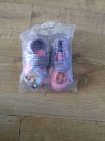 Sofia the first slippers 7-8 toldler size