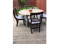 Hand painted Ercol dining table & retro chairs, bargain free delivery