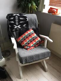 Retro mid century rocking chair upcycle project