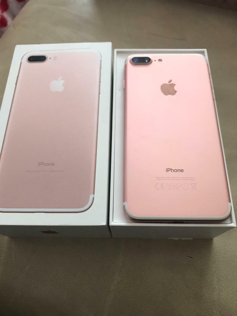 iphone 7 plus rose gold. iphone 7 plus 32gb unlocked rose gold. box and apple warranty gold