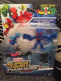 New superhero Mashers micro spider-man 2099 vs venom
