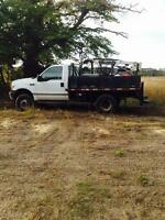 1999 F350 truck with boom