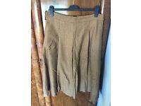 River Island brown tweed effect skirt