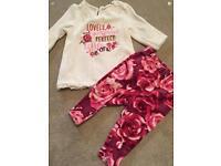 3-6 Months baby girls DKNY cords, leggings tops jeggings cardigan fleece bundle
