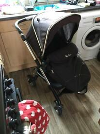 Silver cross wayfarer pram with carrycot pushchair buggy