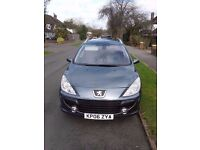 2006 Peugeot 307SW 1.6 SE HDi 110. MOT 03/2018, FSH, 60mpg, excellent all-round condition