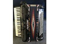 Fantini PP7 120 bass Piano Accordion with Built in Midi and internal m