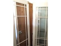 French doors x4 room dividers glazed