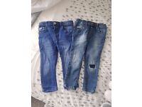 ×2 river island jeans 2/3 years
