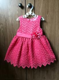 Pretty American Princess Dress in Coral (12 months)