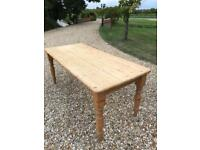 Large Farmhouse pine dining table (delivery available)