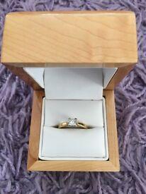 Princess cut Diamond Ring, 18ct gold, Diamond 0.48cts, E.G.L Certificate