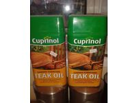 TEAK OIL X 2 TINS (protect garden furniture for the winter)