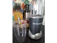 Magic bullet/Nutribullet and two sized cups. Silver/ Grey.