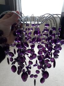 Purple ceiling light shade