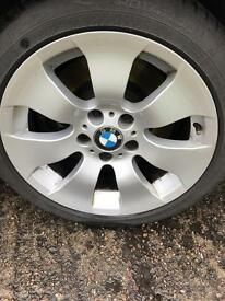"Quick sale 17"" BMW alloys + winter tyres 5-6mm tread"