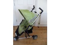 Petite Star Zia X3 Pram Stroller Buggy Jogger 3 Wheeler Lime Green with rain cover