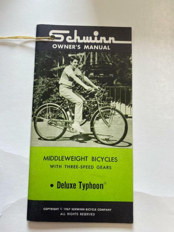 1967 Schwinn Middleweight Bicycles DELUXE TYPHOON Bicycle OWNERS MANUAL