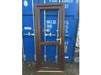 Upvc door, rosewood colour, nearly new.