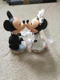 Mickey and Minnie Mouse Ceramic wedding centrepiece
