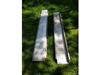 Ramps x 2 Aluminium reinforced with Steel