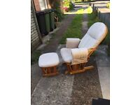 Rocking feeding chair in good condition, upholstery cleaned