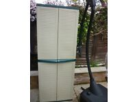 Garden Storage Cupboard - With One Adjustable Shelf.