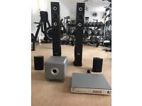 Home Cinema AV Amp & 4 Speakers & Sub