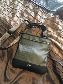 Armani Jeans messenger pouch man bag black grey