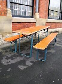 Original Bierkeller Tables + Benches