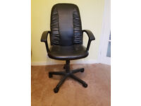 High back padded tilt & swivel chair