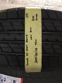 225/60/15 96W brand new dunlop tyre