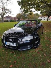 Stunning Audi A3 Convertible 2.0Tdi FULL red leather interior 09, 82100 miles. Immaculate!