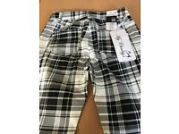 Black ad white checked trousers