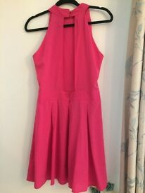 PINK SKATER DRESS WITH OPEN BACK. SIZE 12. BOOHOO. £3.00